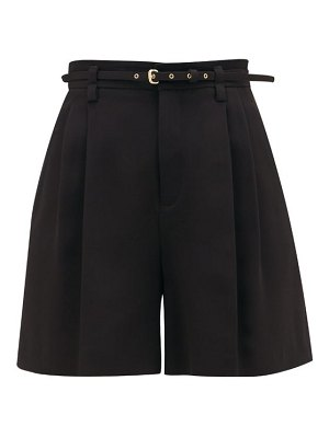 Red Valentino high-rise tailored crepe shorts