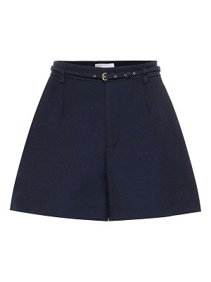 Red Valentino high-rise twill shorts