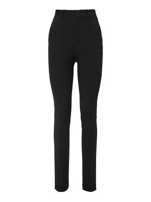 Red Valentino High waist skinny wool blend pants