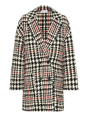 Red Valentino houndstooth wool-blend coat