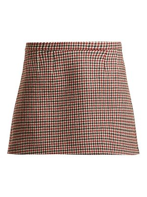 Red Valentino houndstooth wool-blend mini skirt