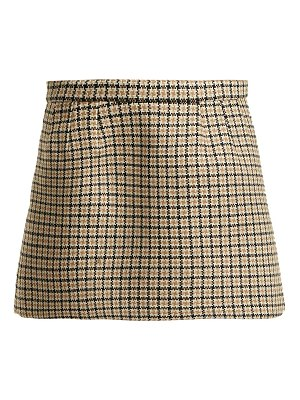 Red Valentino houndstooth wool blend mini skirt