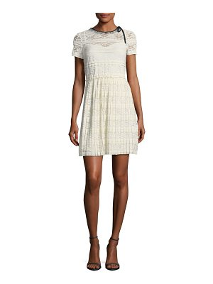 Red Valentino Jersey Lace Short-Sleeve Dress