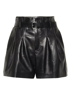 Red Valentino leather high-rise shorts