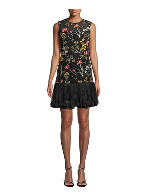 Red Valentino Macrame Floral-Embroidered Dress