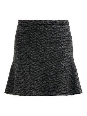 Red Valentino mid rise herringbone tweed mini skirt