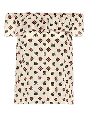 Red Valentino Off-the-shoulder silk top