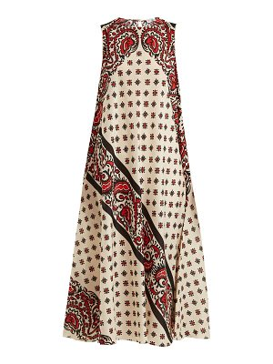 Red Valentino Paisley-print silk dress