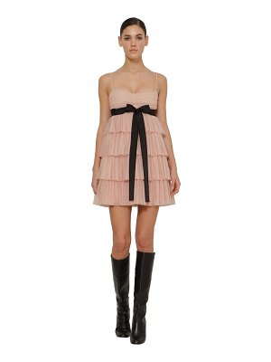 Red Valentino Pleated tulle mini dress