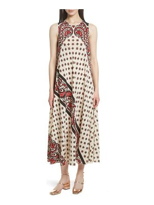 Red Valentino print silk midi dress