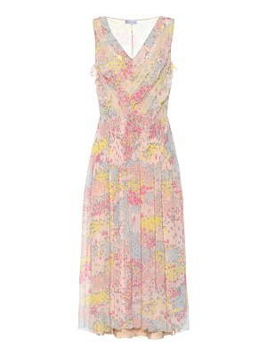 Red Valentino Printed chiffon midi dress