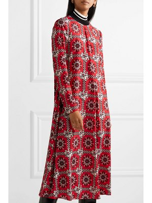 Red Valentino printed crepe de chine midi dress