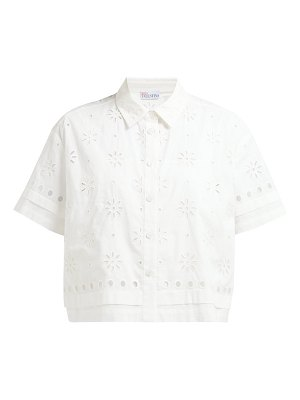 Red Valentino broderie anglaise cotton shirt