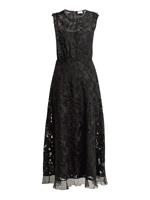 Red Valentino Redvalentino - Floral Embroidered Tulle Dress