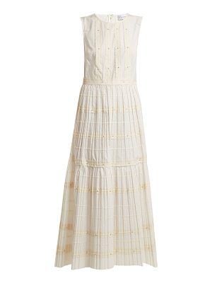 Red Valentino Ric-rac trimmed cotton dress