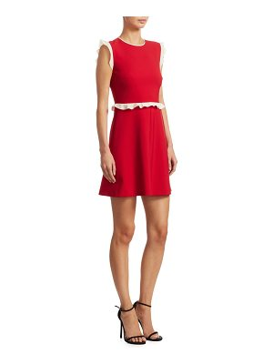 Red Valentino ruffled a-line dress