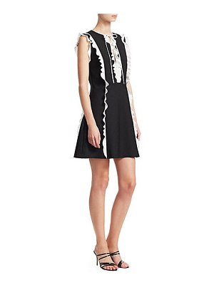 Red Valentino ruffled fit-and-flare dress
