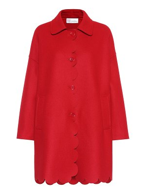 Red Valentino scalloped wool-blend coat