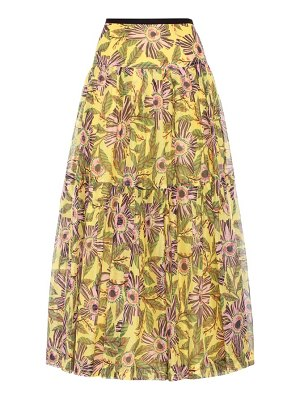 Red Valentino silk and cotton printed skirt