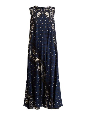 Red Valentino Silk paisley-print maxi dress
