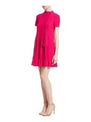 Red Valentino silk ruffle mini dress