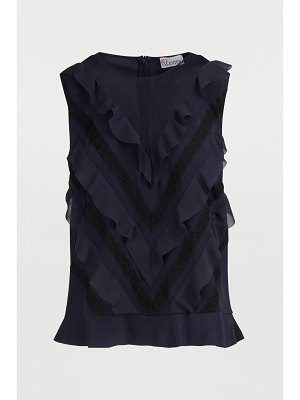 Red Valentino Sleeveless crepe de chine top