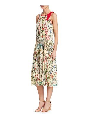 Red Valentino sleeveless pleated silk dress