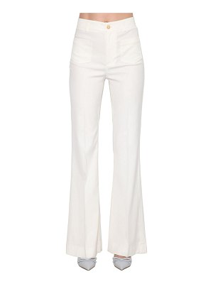 Red Valentino Stretch gabardine wide leg pants