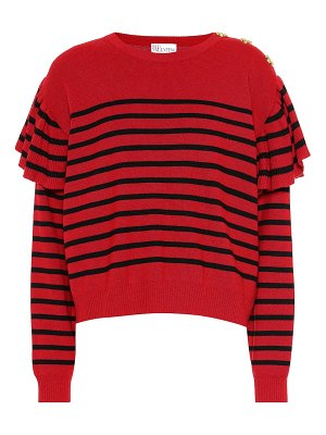 Red Valentino striped wool-blend sweater