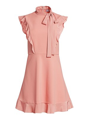 Red Valentino tie neck fit-and-flare dress