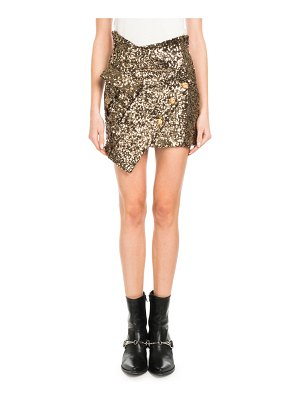 Redemption Asymmetric Sequin Mini Skirt