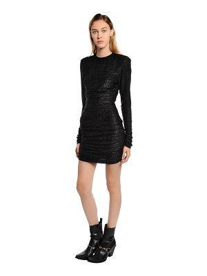Redemption Back cutout metallic jersey mini dress