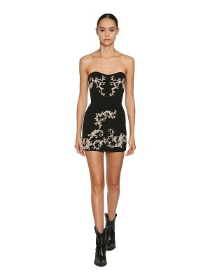Redemption Embellished silk blend mini dress