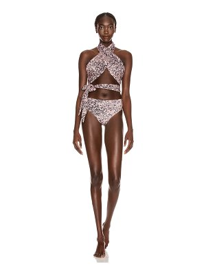 Redemption wrap and knot swimsuit