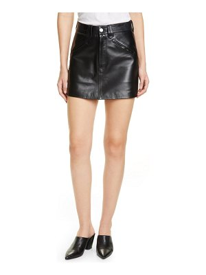 RE/DONE '40s western leather miniskirt