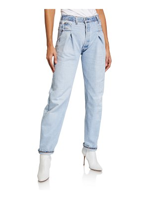 RE/DONE 40s Zoot High-Rise Straight Jeans