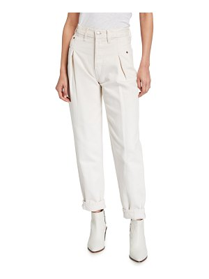 RE/DONE 40s Zoot Pleated Ankle Jeans