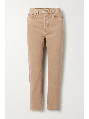 RE/DONE 70s originals stove pipe cropped high-rise straight-leg jeans