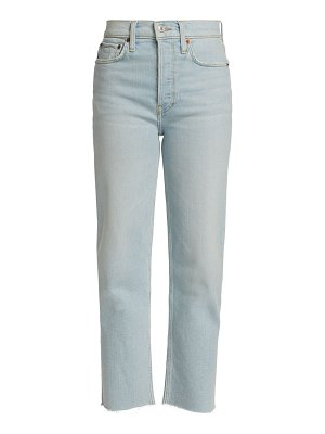 RE/DONE 70s stove pipe cropped jeans