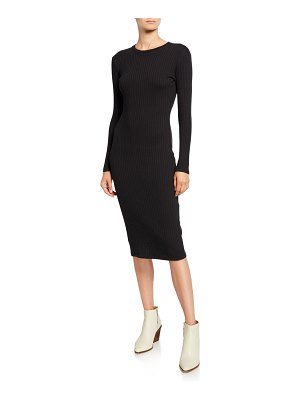 RE/DONE 90s Long-Sleeve Ribbed Dress