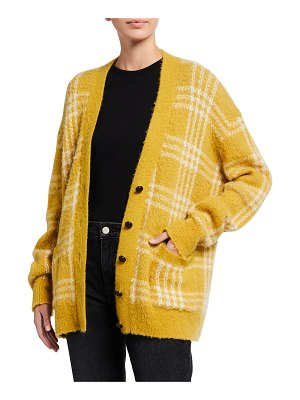 RE/DONE 90s Oversized Check Cardigan