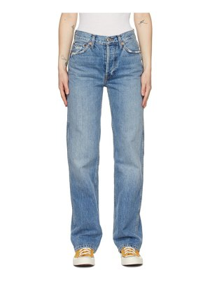 RE/DONE blue 90s high-rise loose jeans