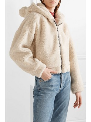 RE/DONE cropped hooded faux fur jacket