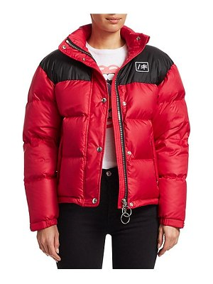 RE/DONE cropped nylon puffer jacket