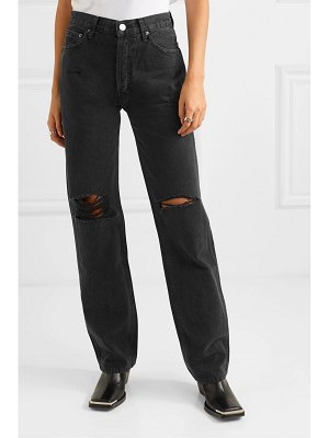 RE/DONE the high rise loose distressed jeans