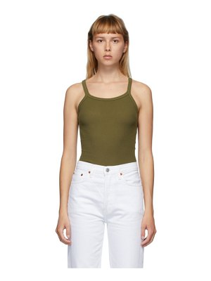 RE/DONE green hanes edition ribbed tank top