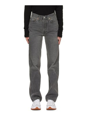 RE/DONE grey 90s high rise loose jeans