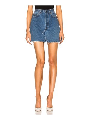 RE/DONE levi's high rise mini skirt