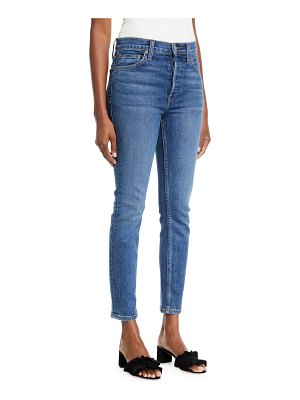 RE/DONE High-Rise Skinny Ankle Cropped Jeans