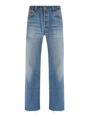 RE/DONE + levis frayed high-rise straight-leg jeans
